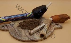 rapé Marachimbé displayed with a tepi and kuripe