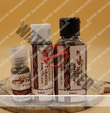 3 bottles of powdered rope tobacco