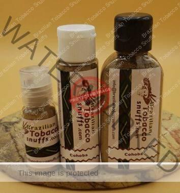 3 bottles of Rapé Cohoba on a platter, 10, 20 and 40 grams