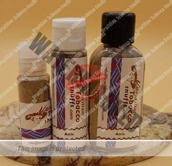 3 bottles of Anise Rapé on a platter, 10, 20 and 40 grams