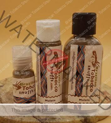3 bottles of Rapé Mulata de Pajé on a platter, 10, 20 and 40 grams