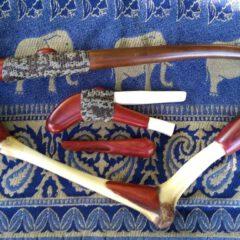 set of kuripe tepi (blowpipe) and cachimbo (tobacco pipe)
