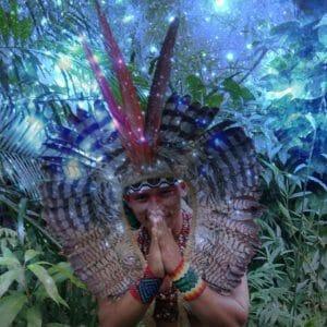 young kuntanawa Indian in natur